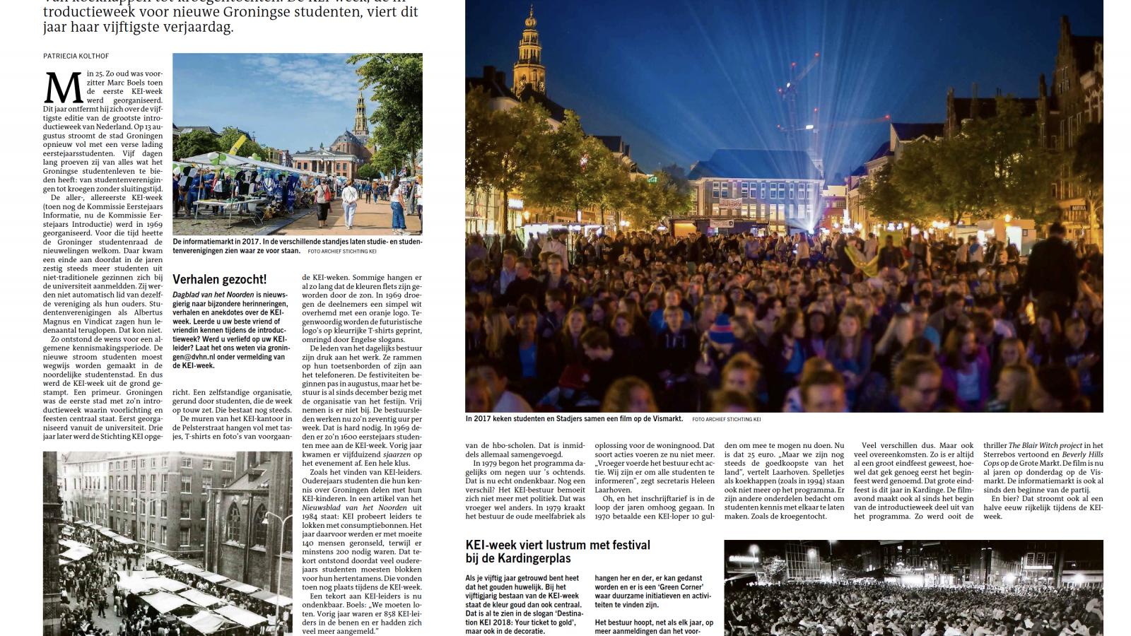 KEI-week in Dagblad van het Noorden!