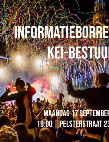 Laatste informatieborrel KEI-bestuur 2019 aanstaande maandag 17 september!